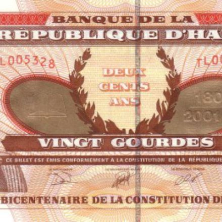 the banknote of Haiti