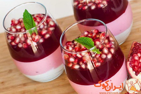 Three-layered Pomegranate Dessert